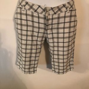 Volcom Gray Striped Bermuda Shorts Women Size 11